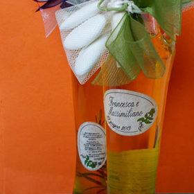 cod.OLEV100 Ampolla contenente 100ml di olio extra vergine di oliva di origine toscana – 2 gusti a scelta: rosmarino/porcini