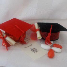 cod.L775 Scatolina Tocco cm.7x7 colori rosso-nero