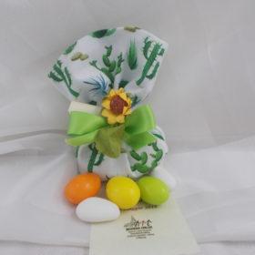 od.SCH8030 Sacchettino pallina in tessuto stampato cactus