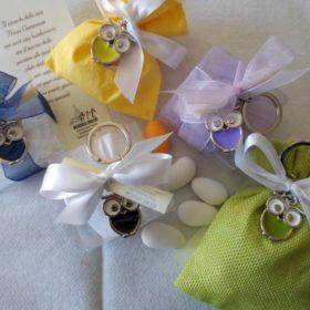 PCH1010 Portachiavi gufetto 6 colori assortiti, confezionati su scatolina pvc, oppure su  sacchettino
