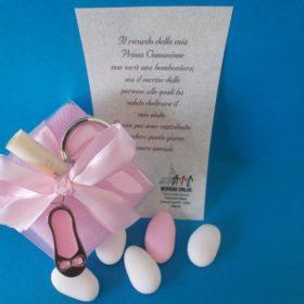 cod.PCH1070 Portachiavi scarpetta in acciaio smaltato disponibile nel colore rosa