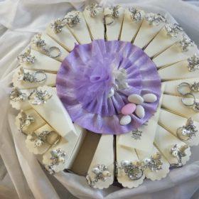 cod.TR18FF torta portachiavi farfalla 1-24-48 fette + soggetto centrale