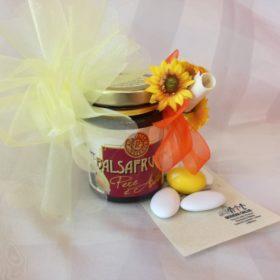 COD.BF130 Vasetto balsafrutta gr.120 fragola o pera con aceto balsamico 7x5
