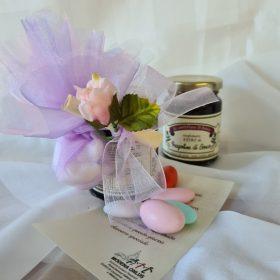 cod.MM100 Vasetto di marmellata 100gr - a scelta gusto mirtilli, fragoline di bosco, frutti di bosco - cm.7x5 -