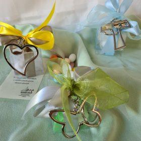 cod.PCH3000 Portachiavi in metallo con gettone - a scelta farfalla, croce tao, cuore -