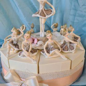 cod.TR11BLR Torta ballerina - disponibile 11-15 fette+soggetto centrale